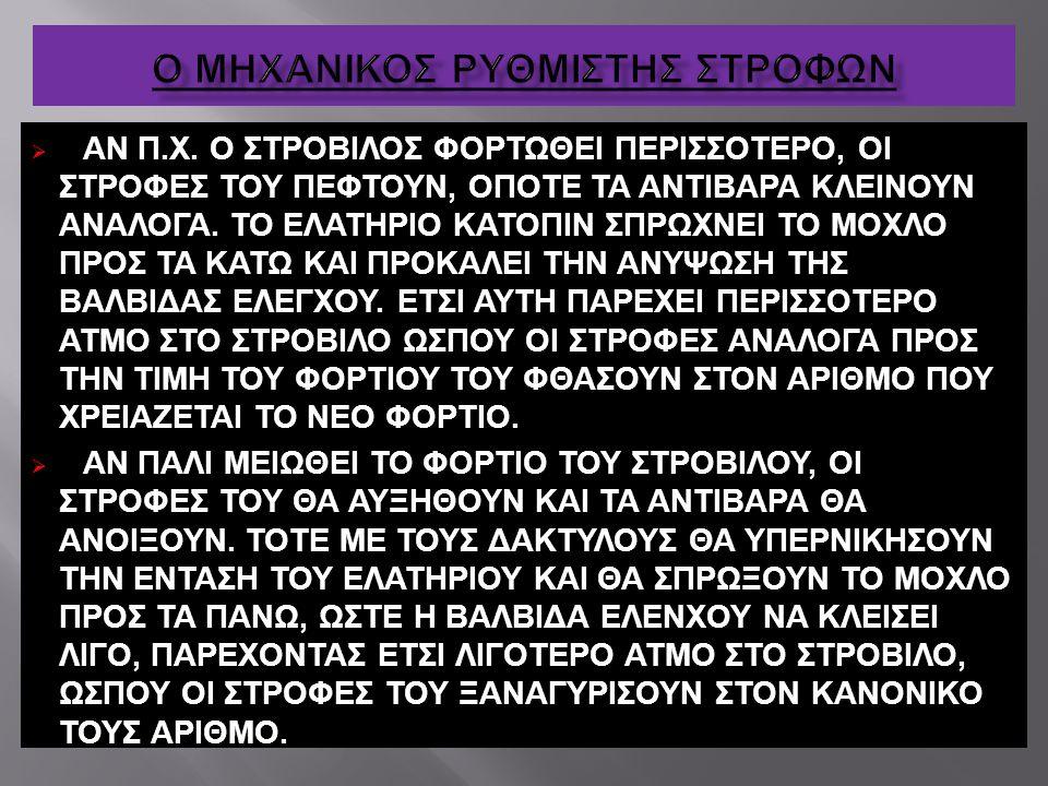 Ο ΜΗΧΑΝΙΚΟΣ ΡΥΘΜΙΣΤΗΣ ΣΤΡΟΦΩΝ