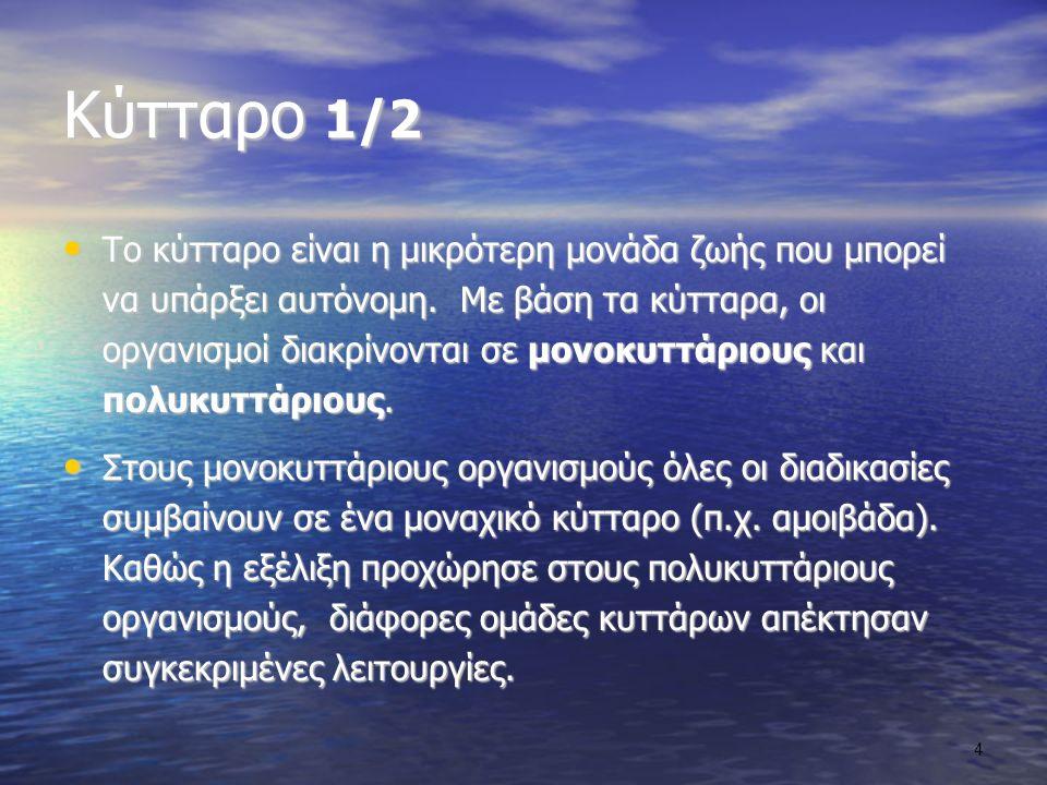 Κύτταρο 1/2