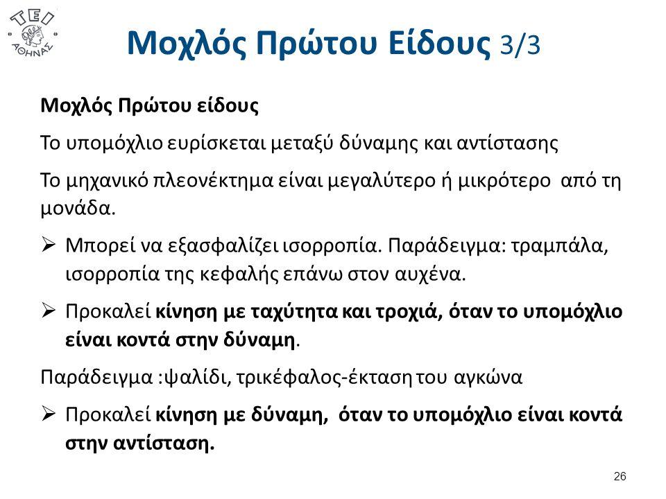Μοχλός Δευτέρου Είδους 1/3