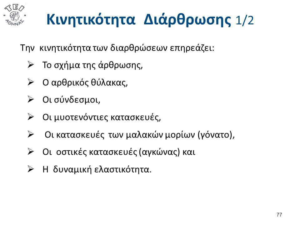 Κινητικότητα Διάρθρωσης 2/2