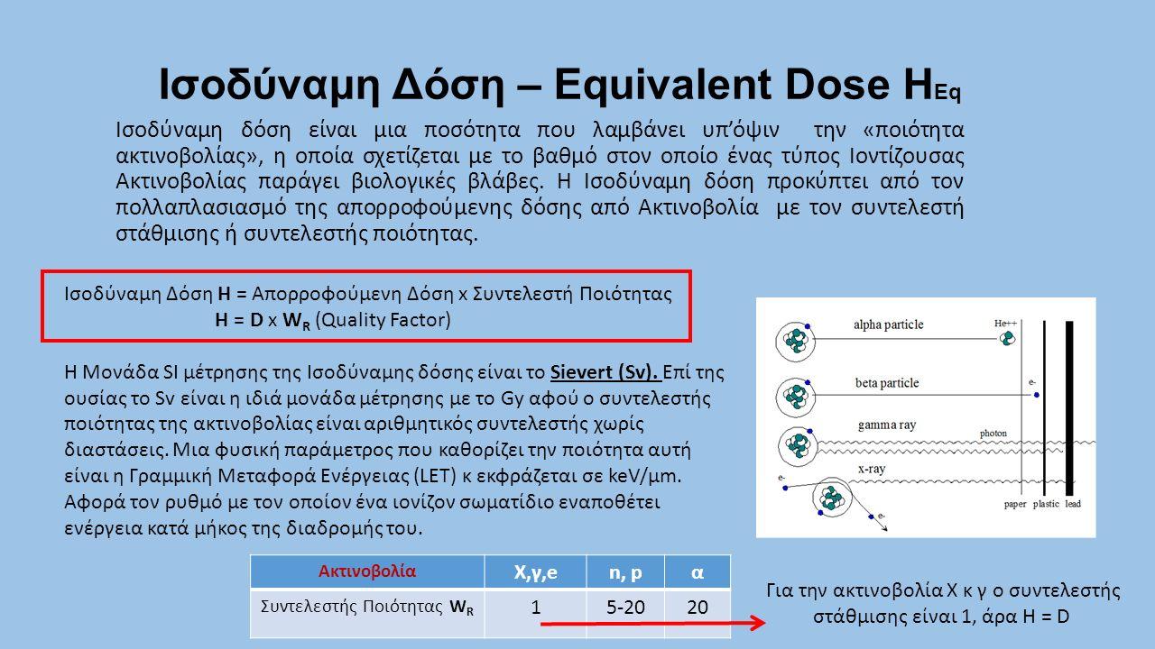 Ισοδύναμη Δόση – Equivalent Dose ΗEq
