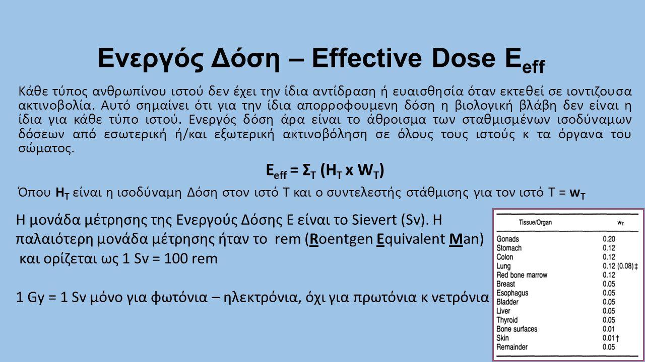 Ενεργός Δόση – Effective Dose Eeff