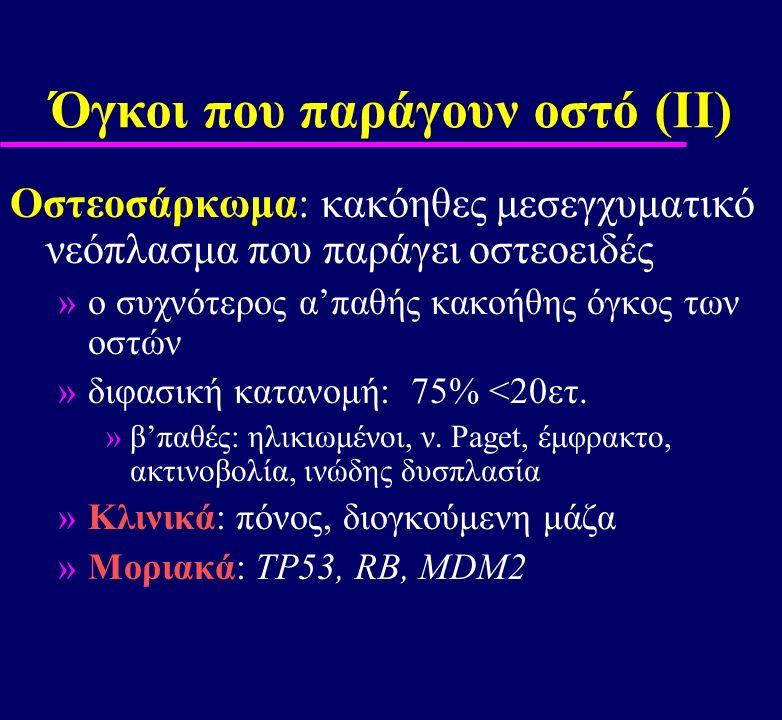 Όγκοι που παράγουν οστό (ΙΙ)