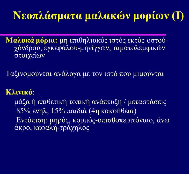 Νεοπλάσματα μαλακών μορίων (Ι)