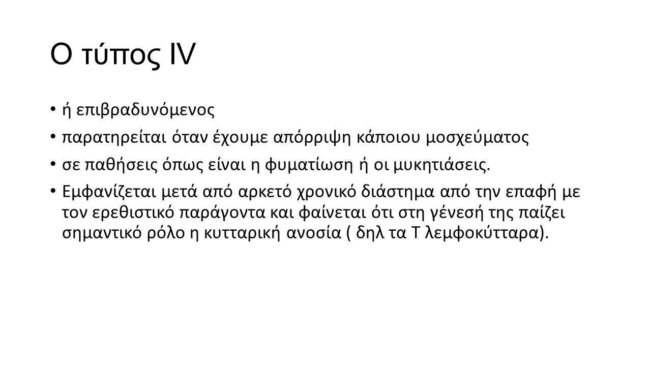 Ο τύπος ΙV ή επιβραδυνόμενος