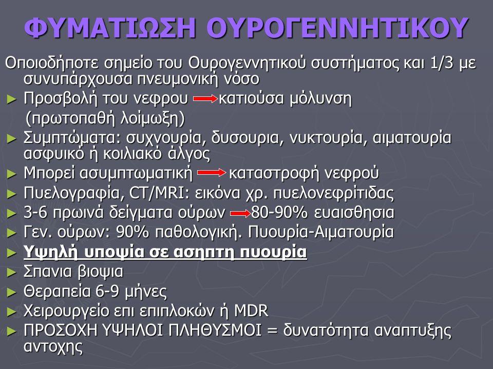 ΦΥΜΑΤΙΩΣΗ ΟΥΡΟΓΕΝΝΗΤΙΚΟΥ