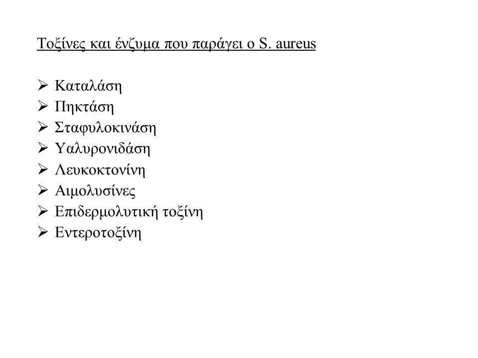 Τοξίνες και ένζυμα που παράγει ο S. aureus