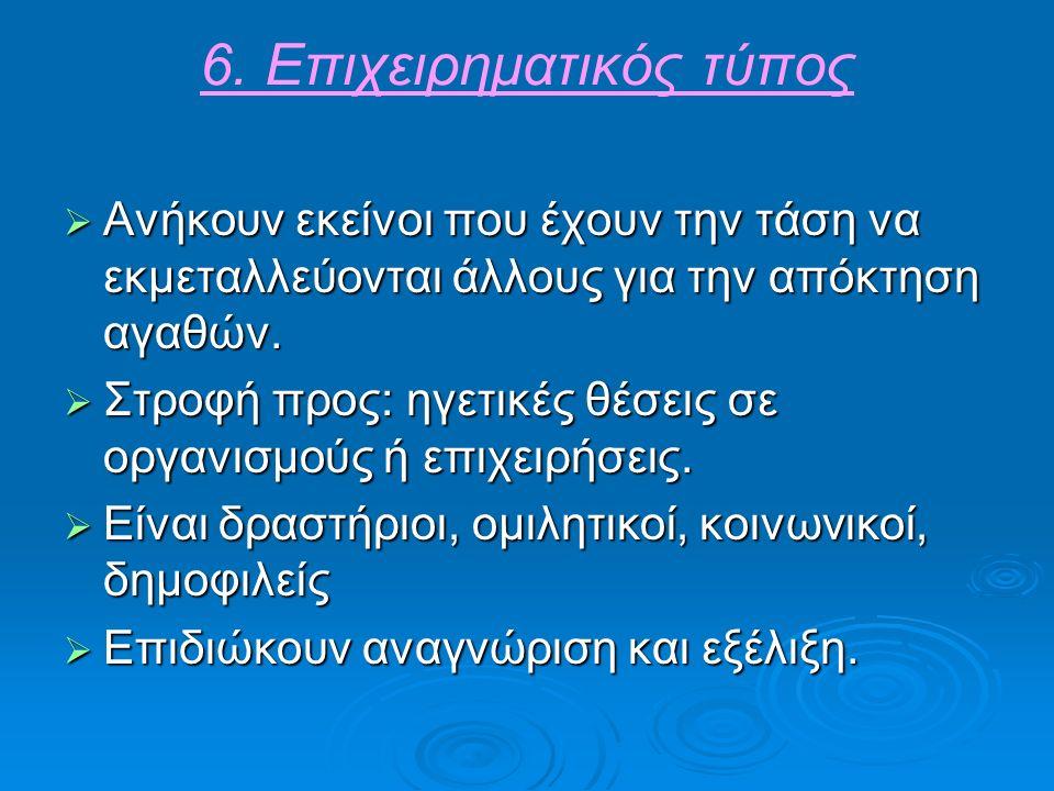 6. Επιχειρηματικός τύπος