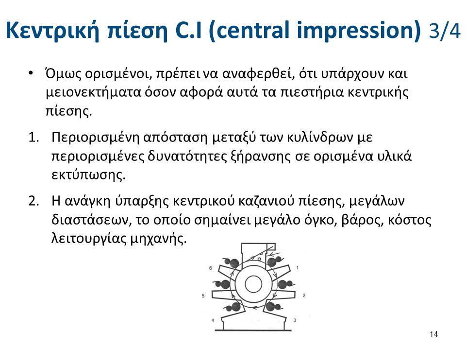 Κεντρική πίεση C.I (central impression) 4/4