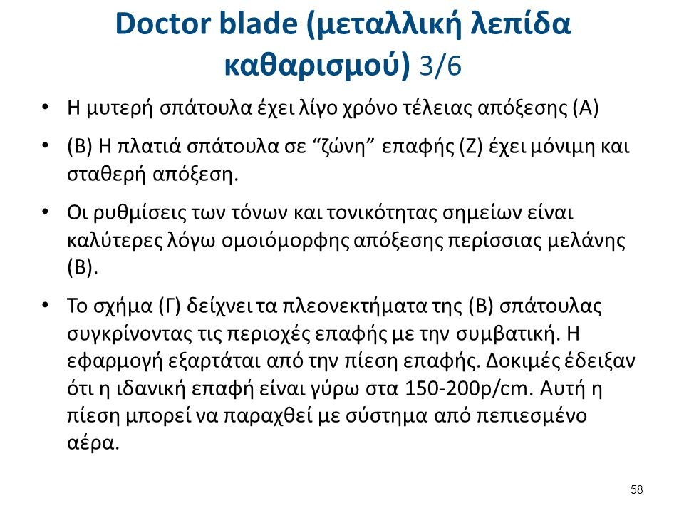 Doctor blade (μεταλλική λεπίδα καθαρισμού) 4/6