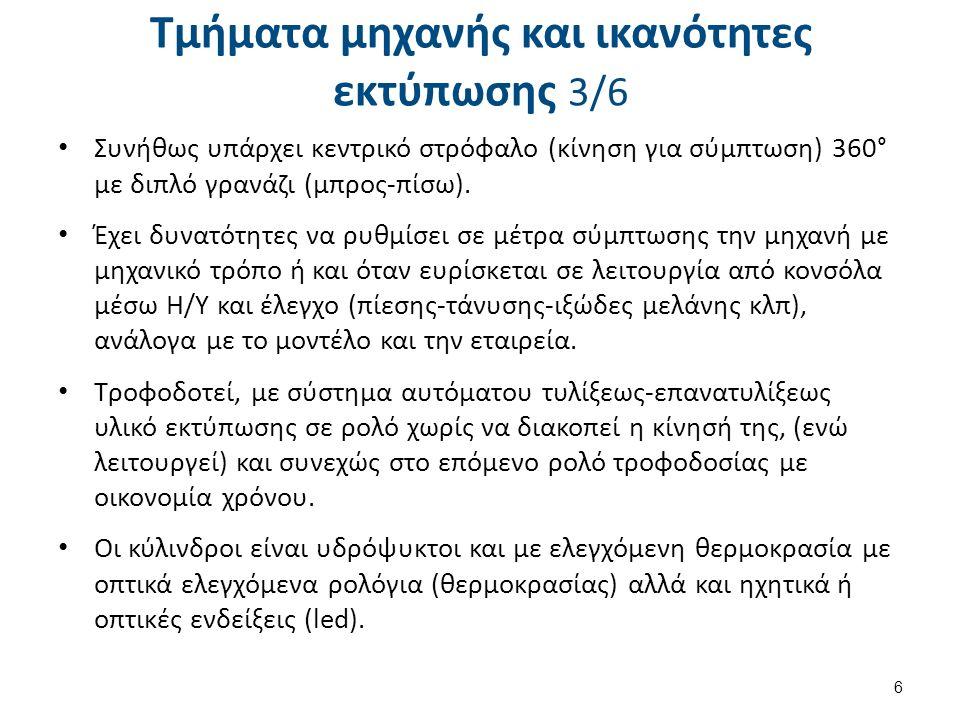 Τμήματα μηχανής και ικανότητες εκτύπωσης 4/6