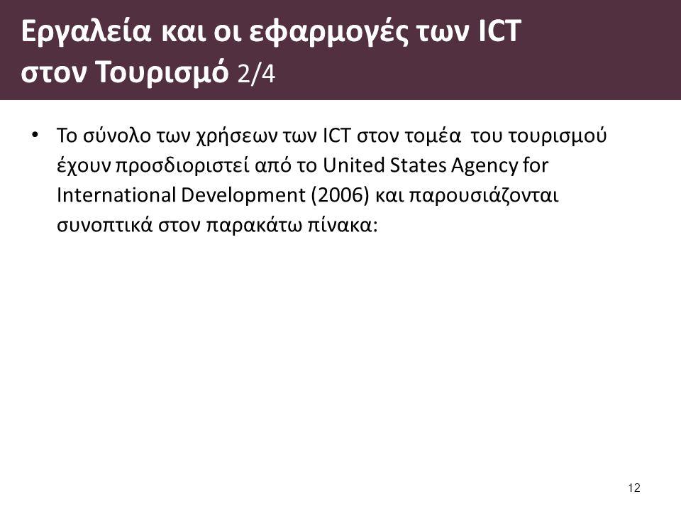 Εργαλεία και οι εφαρμογές των ICT στον Τουρισμό 3/4