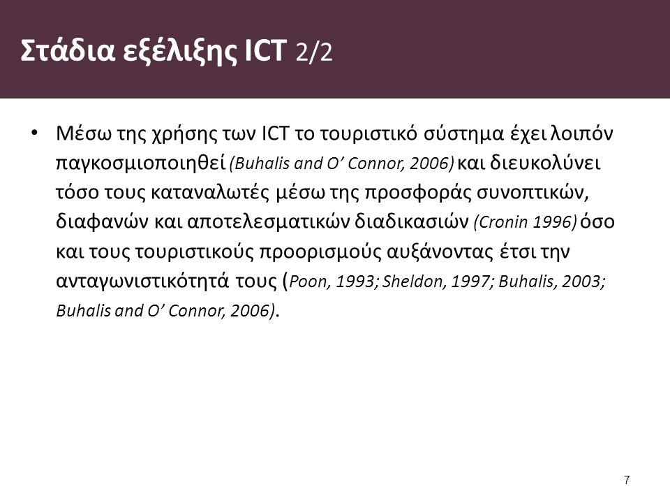 ΤΠΕ (ICT) στον τουρισμό 1/3