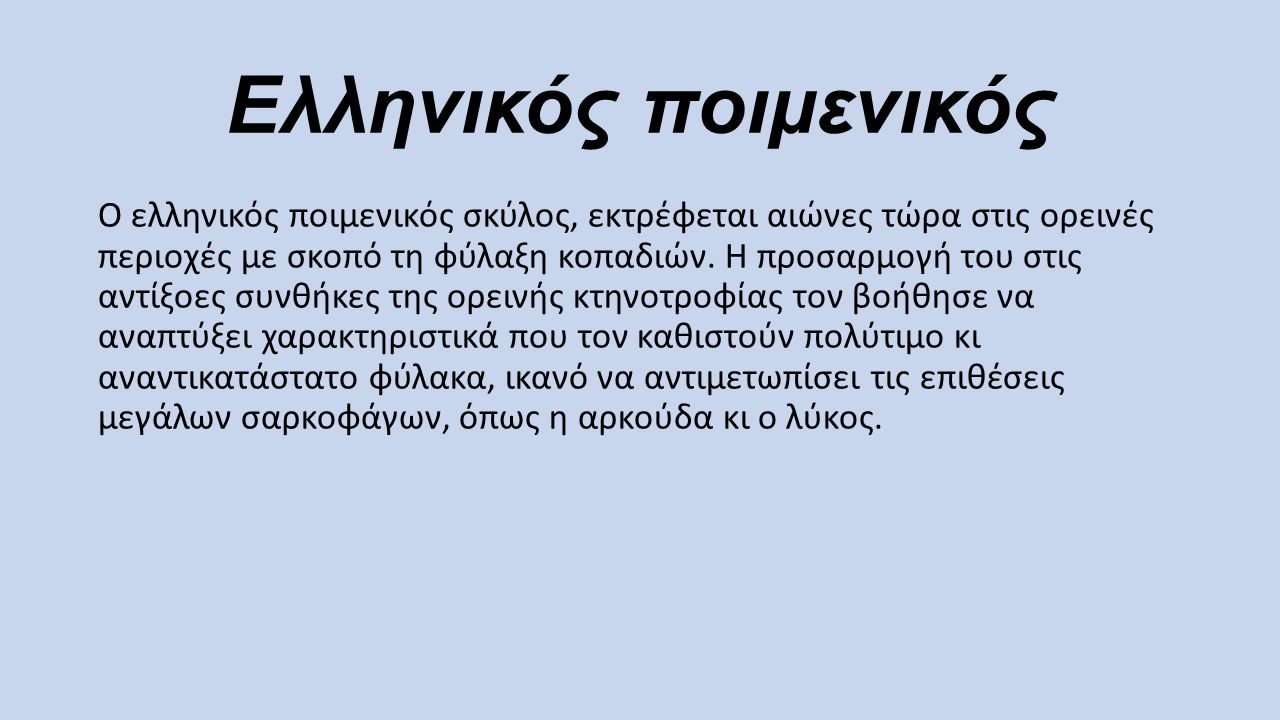 Ελληνικός ποιμενικός