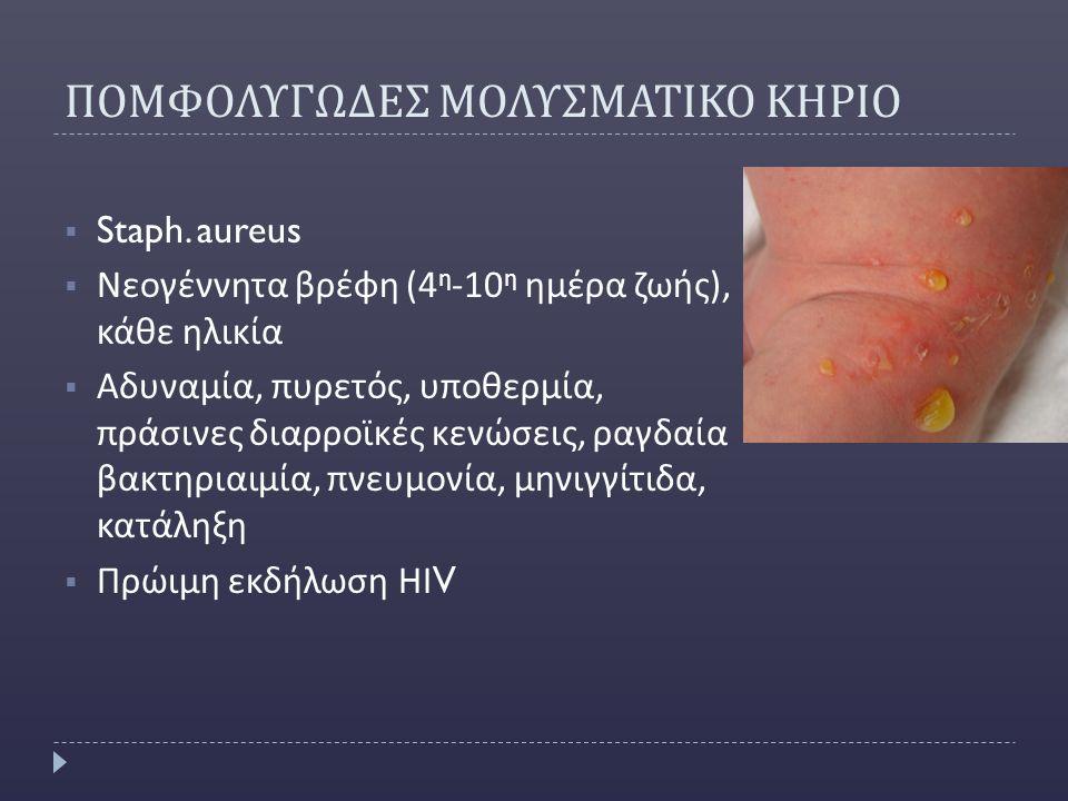 ΠΟΜΦΟΛΥΓΩΔΕΣ ΜΟΛΥΣΜΑΤΙΚΟ ΚΗΡΙΟ