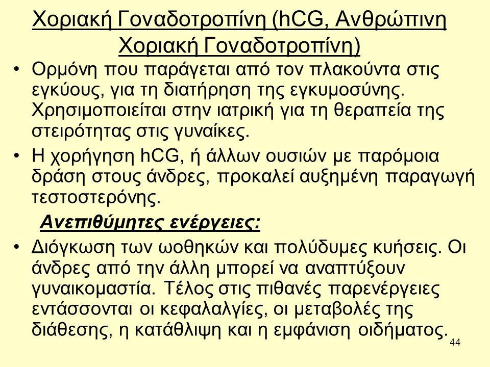 Χοριακή Γοναδοτροπίνη (hCG, Ανθρώπινη Χοριακή Γοναδοτροπίνη)