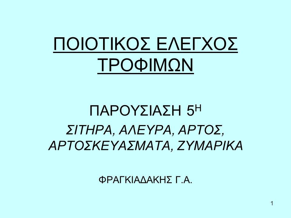 ΠΟΙΟΤΙΚΟΣ ΕΛΕΓΧΟΣ ΤΡΟΦΙΜΩΝ