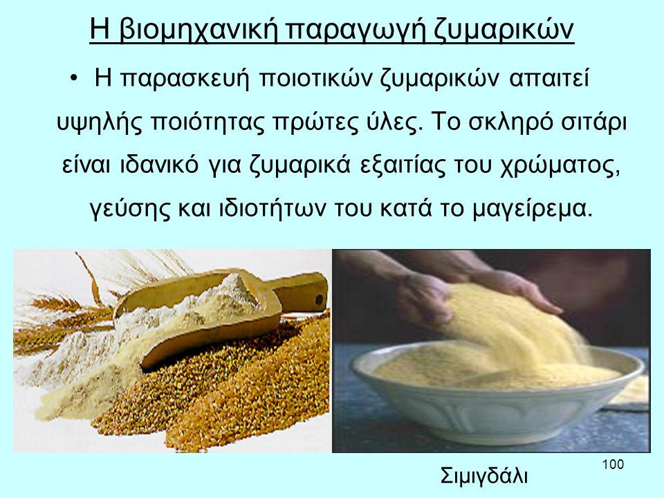 Η βιομηχανική παραγωγή ζυμαρικών