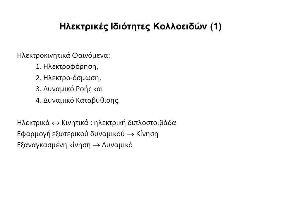 Ηλεκτρικές Ιδιότητες Κολλοειδών (1)