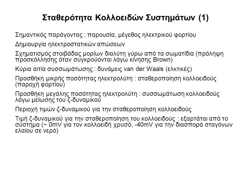 Σταθερότητα Κολλοειδών Συστημάτων (1)