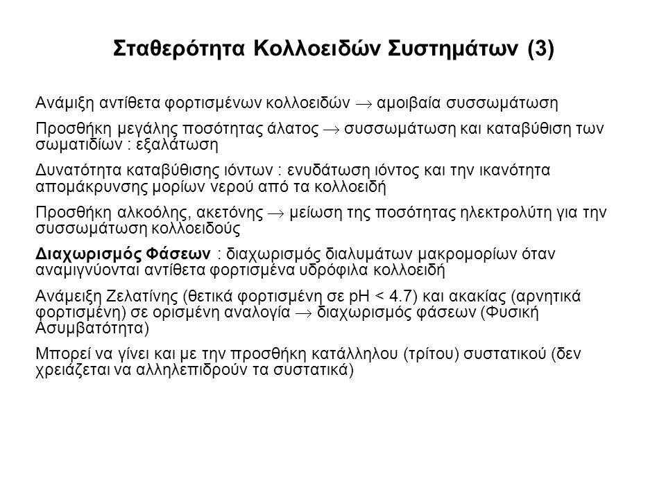 Σταθερότητα Κολλοειδών Συστημάτων (3)