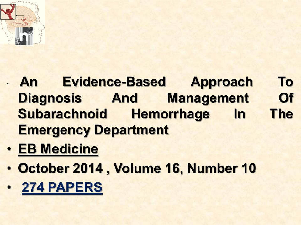 EB Medicine October 2014 , Volume 16, Number 10 274 PAPERS
