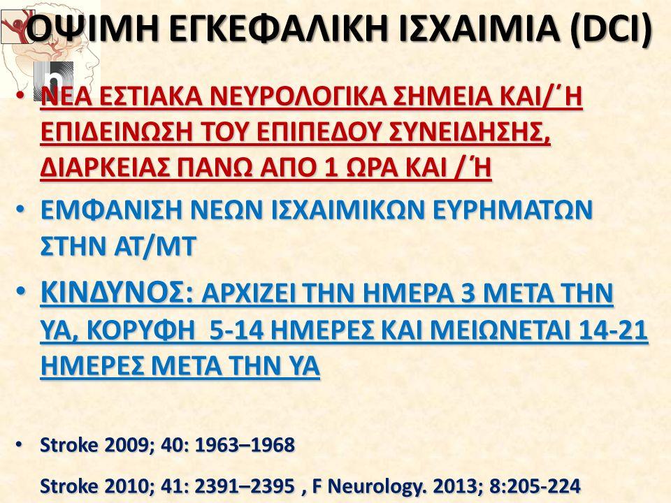 ΟΨΙΜΗ ΕΓΚΕΦΑΛΙΚΗ ΙΣΧΑΙΜΙΑ (DCI)