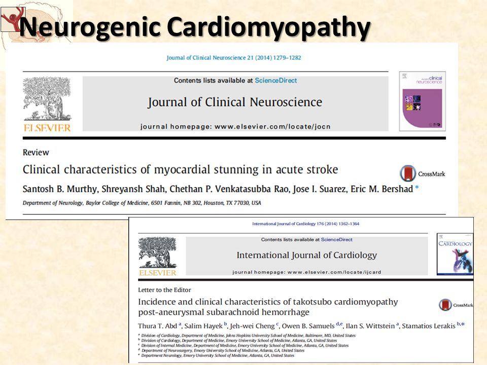 Neurogenic Cardiomyopathy Takotsubo Cardiomyopathy