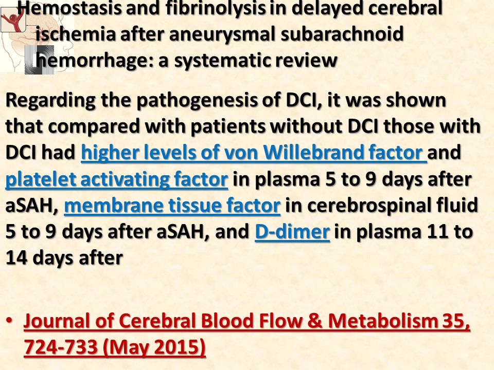 Hemostasis and fibrinolysis in delayed cerebral ischemia after aneurysmal subarachnoid hemorrhage: a systematic review