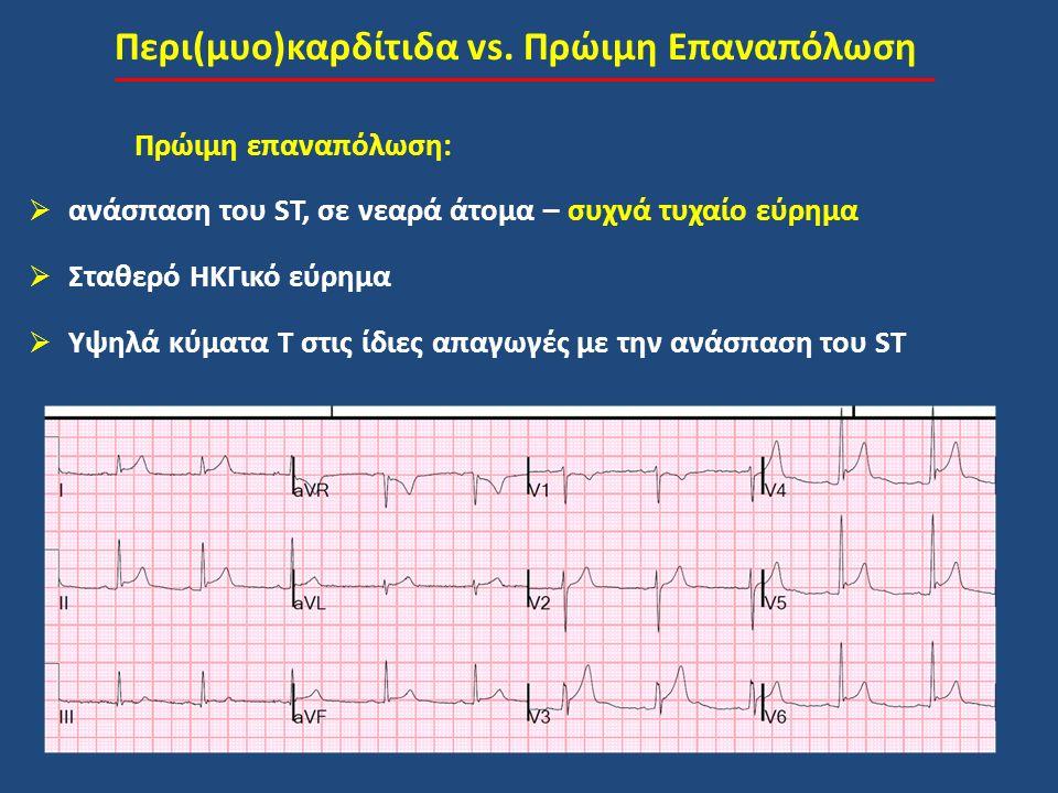 Περι(μυο)καρδίτιδα vs. Πρώιμη Επαναπόλωση
