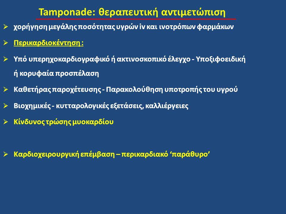 Tamponade: θεραπευτική αντιμετώπιση