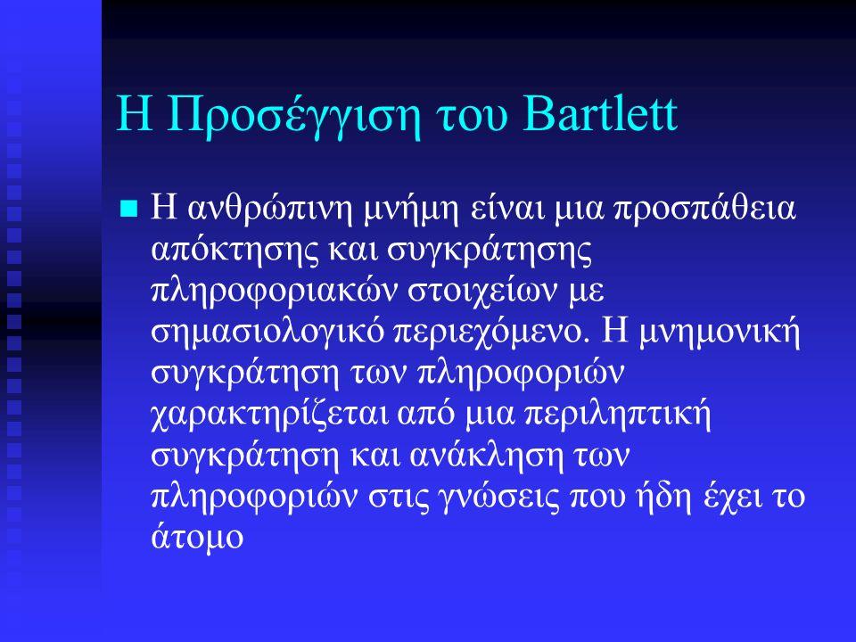 Η Προσέγγιση του Bartlett