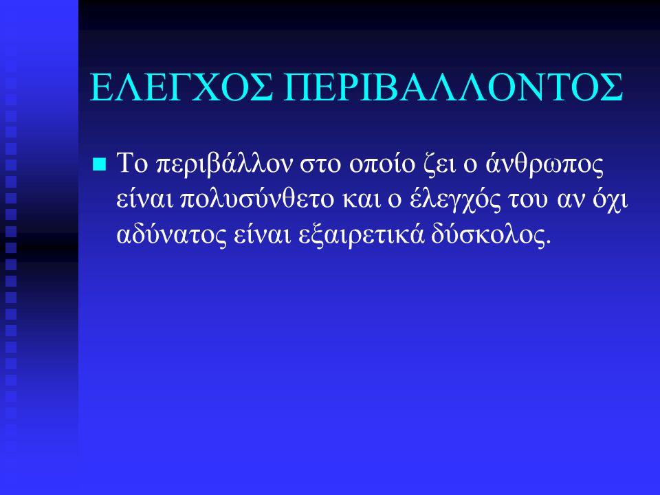 ΕΛΕΓΧΟΣ ΠΕΡΙΒΑΛΛΟΝΤΟΣ