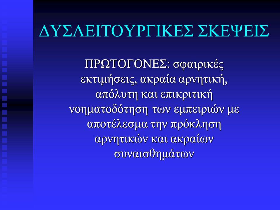 ΔΥΣΛΕΙΤΟΥΡΓΙΚΕΣ ΣΚΕΨΕΙΣ