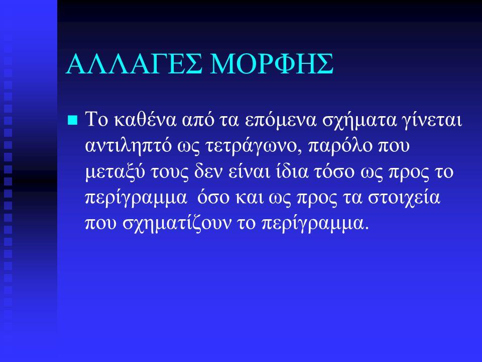 ΑΛΛΑΓΕΣ ΜΟΡΦΗΣ
