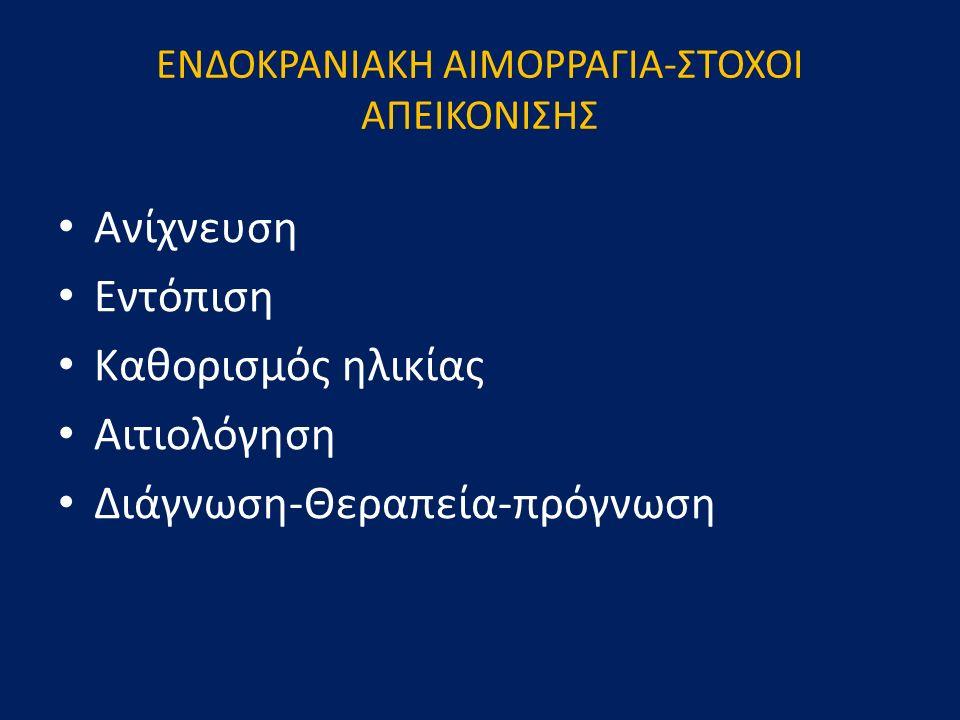 ΕΝΔΟΚΡΑΝΙΑΚΗ ΑΙΜΟΡΡΑΓΙΑ-ΣΤΟΧΟΙ ΑΠΕΙΚΟΝΙΣΗΣ