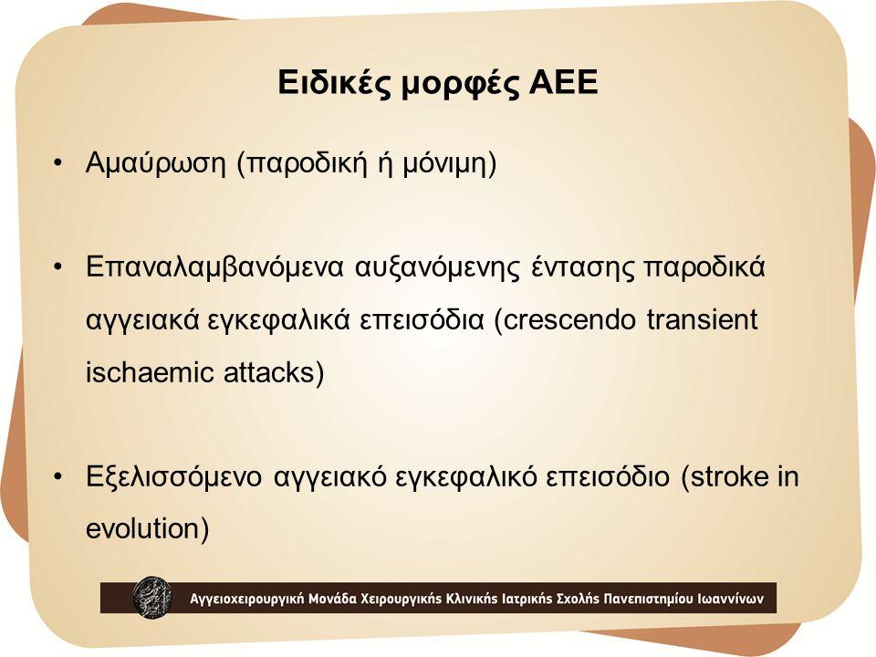 Ειδικές μορφές AEE Αμαύρωση (παροδική ή μόνιμη)