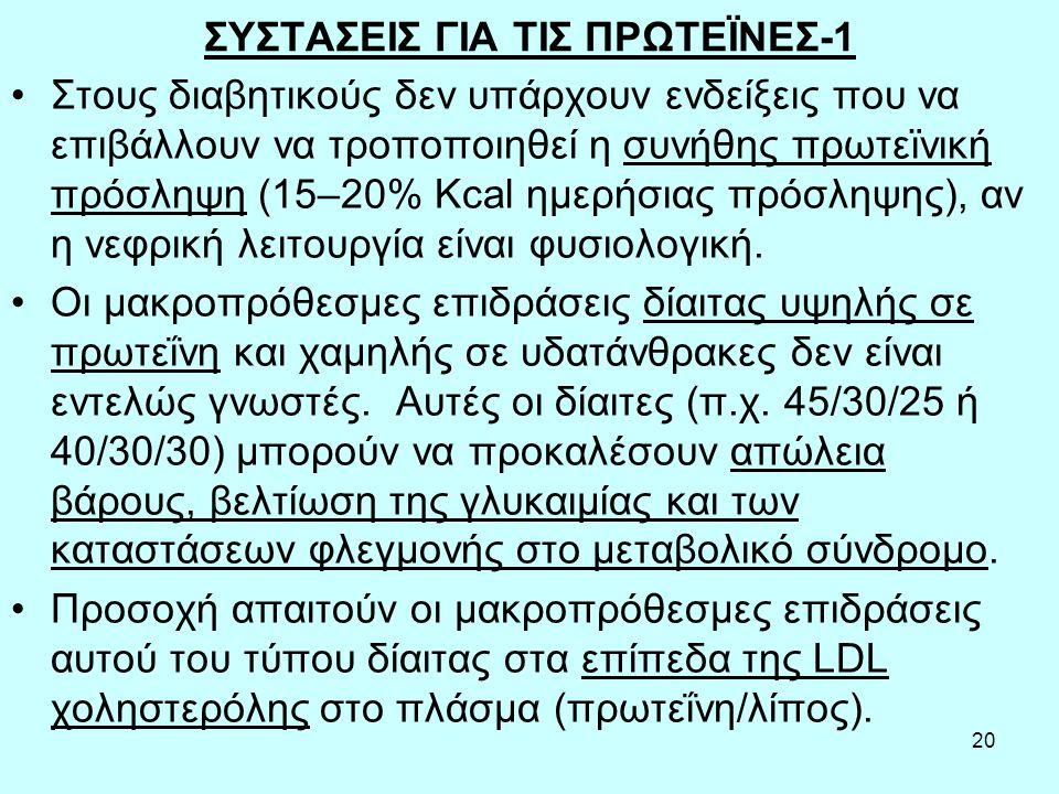 ΣΥΣΤΑΣΕΙΣ ΓΙΑ ΤΙΣ ΠΡΩΤΕΪΝΕΣ-1