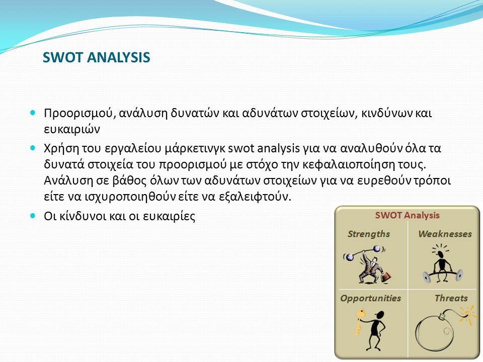 SWOT ANALYSIS Προορισμού, ανάλυση δυνατών και αδυνάτων στοιχείων, κινδύνων και ευκαιριών.