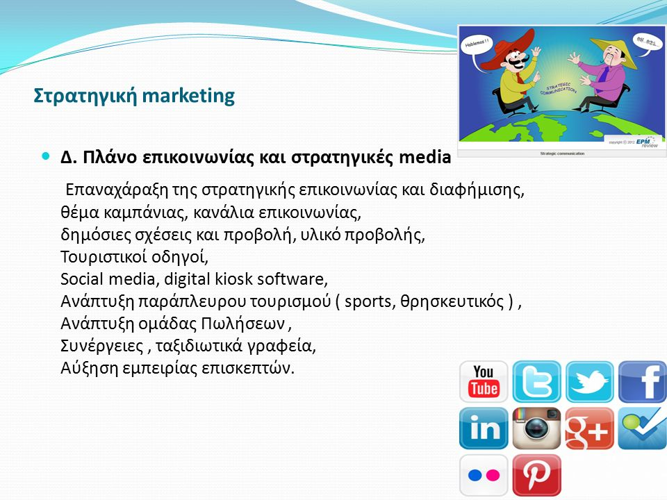 Στρατηγική marketing Δ. Πλάνο επικοινωνίας και στρατηγικές media.