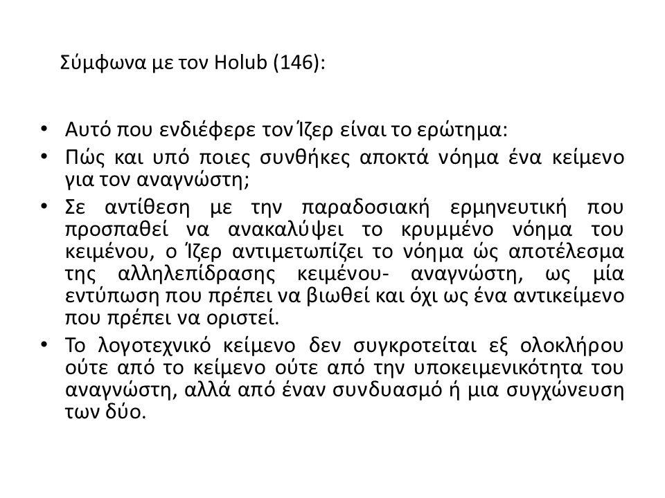 Σύμφωνα με τον Holub (146):
