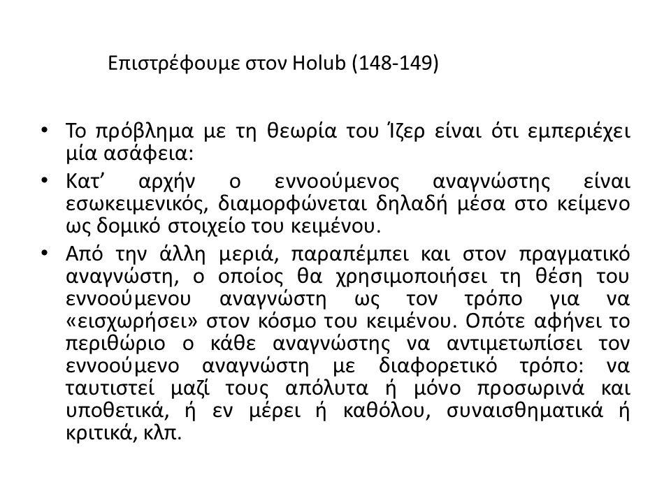 Επιστρέφουμε στον Holub (148-149)