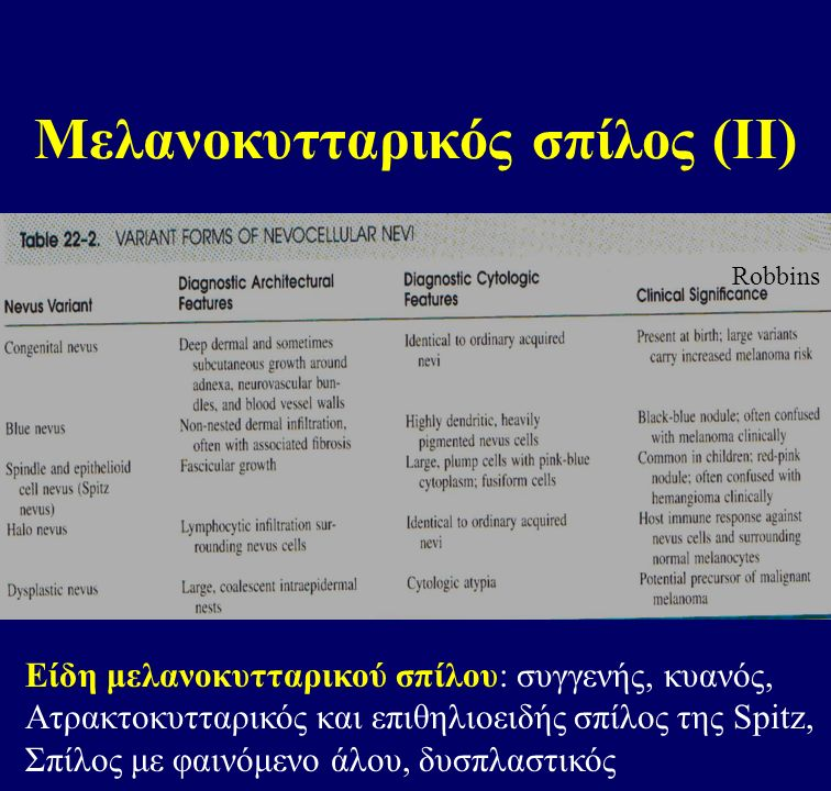 Μελανοκυτταρικός σπίλος (ΙΙ)