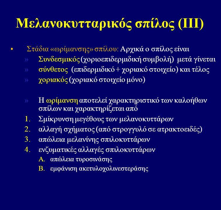 Μελανοκυτταρικός σπίλος (ΙΙΙ)