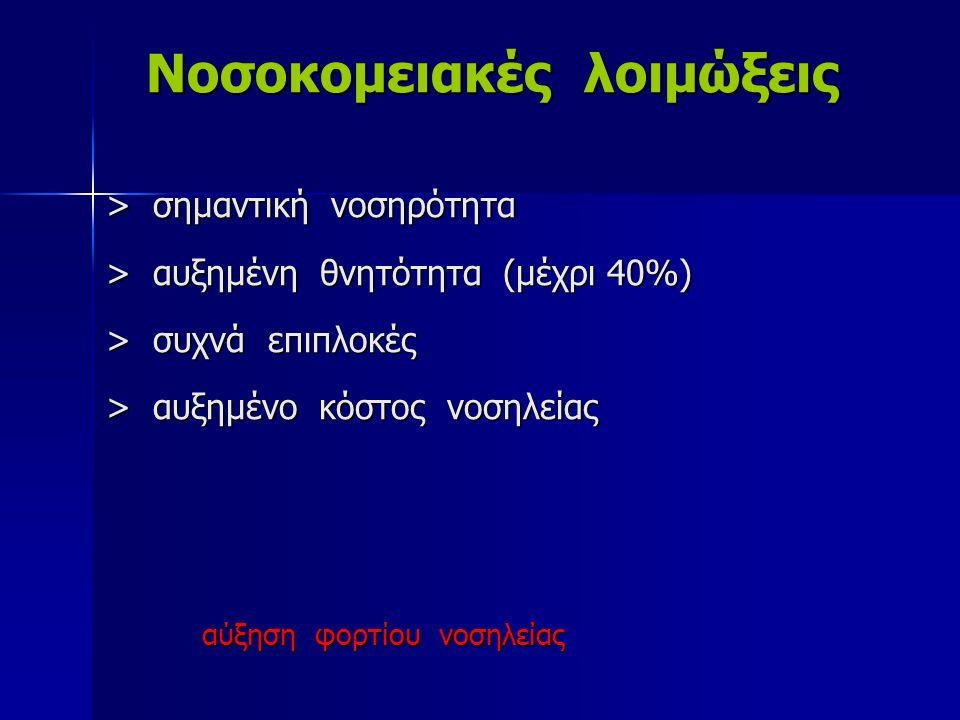 Νοσοκομειακές λοιμώξεις. > σημαντική νοσηρότητα