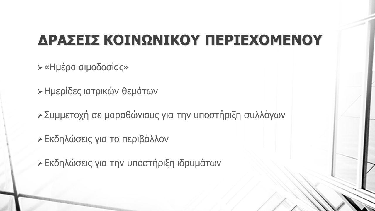 ΔΡΑΣΕΙΣ ΚΟΙΝΩΝΙΚΟΥ ΠΕΡΙΕΧΟΜΕΝΟΥ