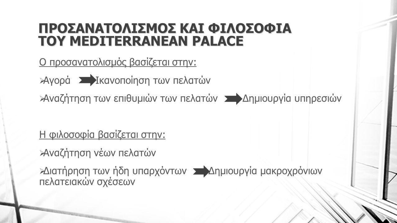 ΠΡΟΣΑΝΑΤΟΛΙΣΜΟΣ ΚΑΙ ΦΙΛΟΣΟΦΙΑ ΤΟΥ MEDITERRANEAN PALACE