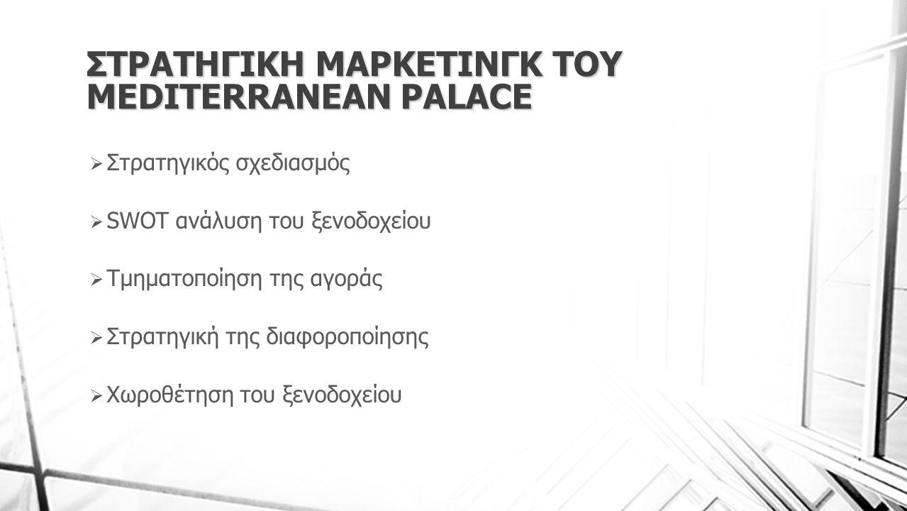 ΣΤΡΑΤΗΓΙΚΗ ΜΑΡΚΕΤΙΝΓΚ ΤΟΥ MEDITERRANEAN PALACE