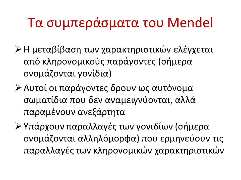 Τα συμπεράσματα του Mendel