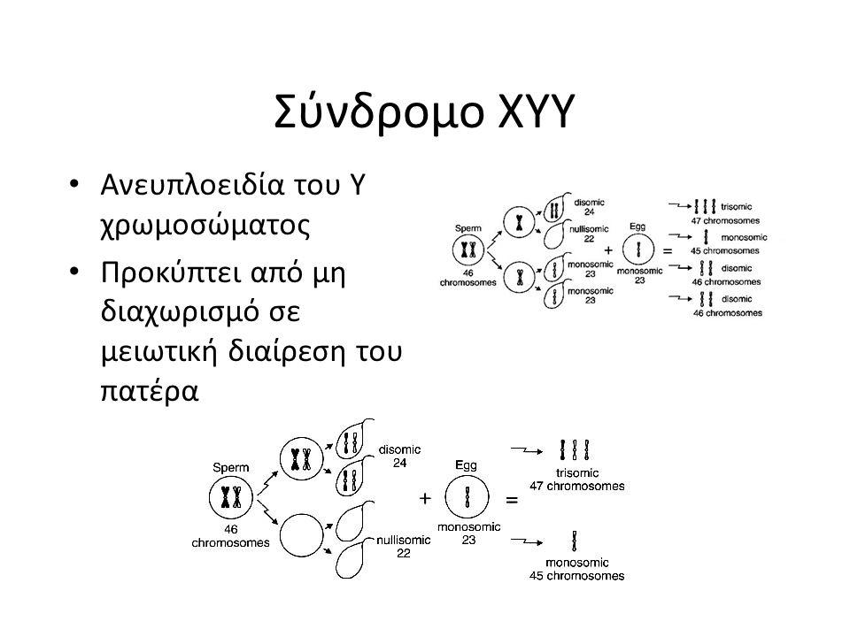 Σύνδρομο XYY Ανευπλοειδία του Y χρωμοσώματος